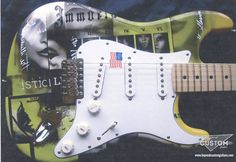 Fender Stratocaster with Custom Airbrush work by www.beyondcustomguitars.com