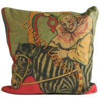 Circus - Clown w/ Zebra Pillow