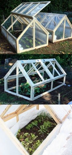 42 BEST tutorials on how to build amazing DIY greenhouses , simple cold frames and cost-effective hoop house even when you have a small budget and little carpentry skills! Everyone can have a productive winter garden and year round harvest! A Piece Of Rai Build A Greenhouse, Greenhouse Gardening, Greenhouse Ideas, Greenhouse Wedding, Greenhouse Film, Cold Frame Gardening, Homemade Greenhouse, Indoor Greenhouse, What Is A Conservatory