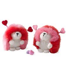 Set of Two Valentine Hedgehogs