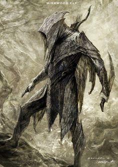 The Hobbit. Mirkwood elf. El hobbit. Concept art. Bocetos. Tolkien. Elves. Elfos.