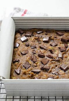 Paleo Zucchini Bread with Chocolate Chips. Even if you aren't following a Paleo diet, you'll LOVE this delicious, low carb chocolate zucchini bread recipe! Recipe at wellplated.com   @wellplated