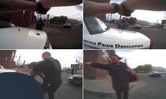 Video: Police shoot dead knife-wielding man who was shouting 'kill me'