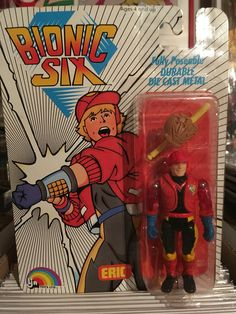 This is Eric Bennett (aka: Sport-1) from the Bionic Six line of toys and action figures from LJN. These are part of my personal toy collection.