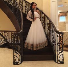 Lovely white lacha, indian fashion