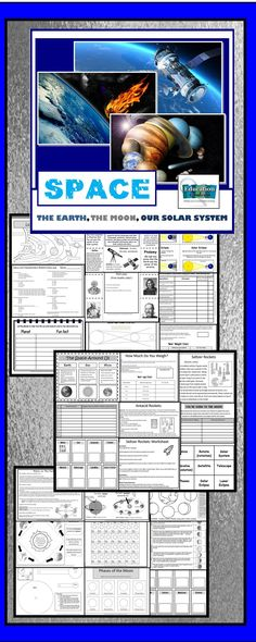 Everything you need to teach space, the phases of the moon, revolution, rotation and the solar system. Interactive Notes, visuals, a quiz, trading cards, activities and labs!