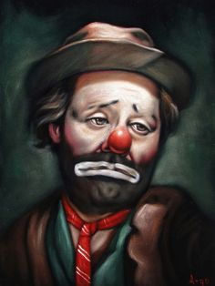 Emmett Kelly Hobo Clown face portrait Art black Velvet Oil Painting ARGO A168 #Realism                                                                                                                                                                                 More