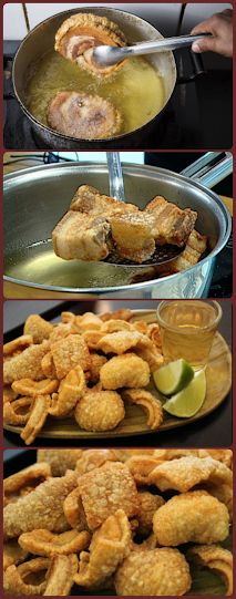 Brazilian Dishes, Cookie Company, Chicharrones, Carne Asada, Tapas, Bacon, Food And Drink, Appetizers, Low Carb