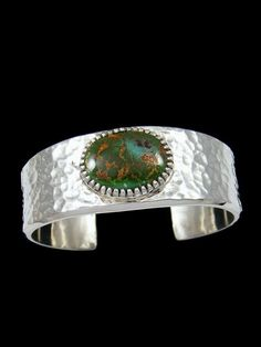 393e8d1a0692 Native American Natural Royston Turquoise Sterling Silver Ingot Bracelet  Silver Ingot