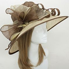 Feather Bow Sinamay Straw Hat 222251