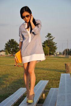 camo meets couture: classic shirtdress