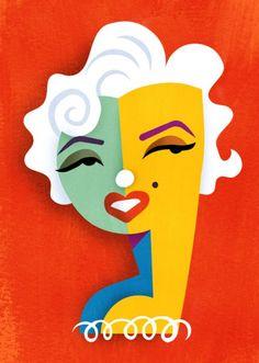 Marilyn Monroe by Pablo Lobato