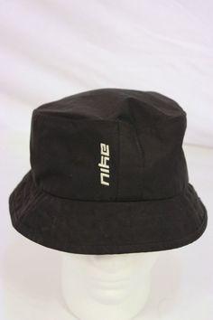 a5178ba575f4c Nike Bucket Hat Sun Protection Light Weight Black Golf Hat Size M L M L Cap