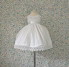 White lace dress baby girls  dress for by MonikaMagdalenaHM