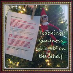 Our elf brings a bible verse and act of kindness each day!
