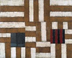 Sean Scully, Why and What (Yellow) 1988 Oil on linen with Steel