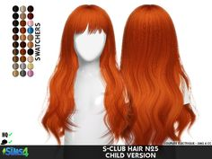 Coupure Electrique: S-Club`s N25 hair retextured - Sims 4 Hairs - http://sims4hairs.com/coupure-electrique-s-clubs-n25-hair-retextured/