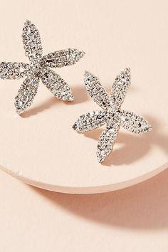 Jennifer Behr Crystal Orchid Post Earrings
