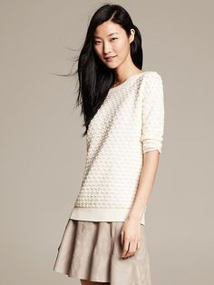 Popcorn Stitch Pullover | Banana Republic