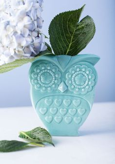 Owl That Jazz Vase, #ModCloth It's just too stinkin' cute and vintage-y looking. :)It would go well in my kitchen.