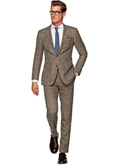 Suit Light Brown Check Hudson P4233i | Suitsupply Online Store ...