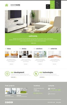 Modern Interior Design WordPress Theme wordpress website template