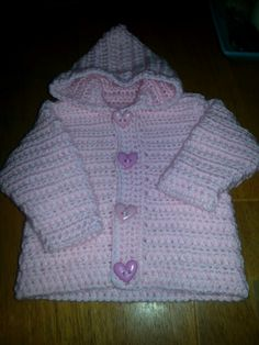 Crouched baby girls hoodie