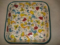 plato pintado a mano