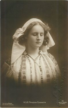 Princess Elisabeth (Elisaveta) of Romania, later Queen of Greece. She was born in 1894 and died in Romanian Royal Family, Greek Royal Family, Queen Sophia, Princess Alexandra, Princess Victoria, Queen Victoria, Adele, King George Ii, Greek Royalty