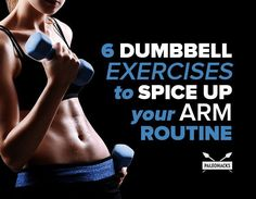 6 Dumbbell Exercises to Spice Up Your Arm Routine If you're ready to switch things up, then here's six dumbbell exercises to spice up your arm routine. Dumbbell Arm Workout, Dumbbell Exercises, Hip Workout, Back Of Arm Exercises, Chest Muscles, Gym Routine, Muscle Training, Keep Fit, Health Articles