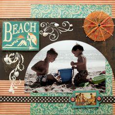 Beach - Scrapbook.com-Like the umbrella from a drink.