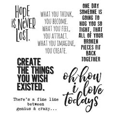Tim Holtz Cling Rubber Stamps - Ponderings