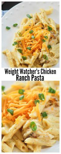 Weight Watchers Chicken Ranch Pasta pasta