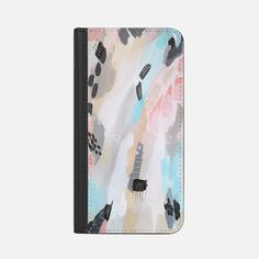 Oatmeal Abstract - Wallet Case  Elle and Kay by Laura Fedorowicz