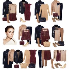 """Dark Autumn Basics"" by evgeniya-fedorova on Polyvore"