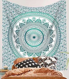 SheetKart Mandala Hippie Indian Traditional Wall Hanging Large Tapestry Beach Throw  Asian Blue * For more information, visit image link.Note:It is affiliate link to Amazon.
