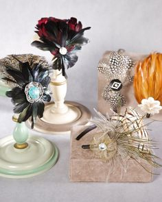 Adorn basic headbands with beautiful feathers for a one-of-a-kind accessory.
