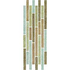 Wickes Capri Mixed Colour Gloss Ceramic Border Tile 110 x 300mm