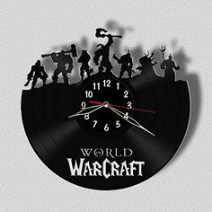 World of Warcraft Wall Clock Vinyl Record