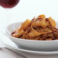 Smoky Pork Pappardelle