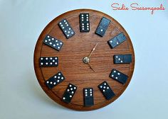Cool DIY Gifts to Make For Your Boyfriend - DIY Domino Clock - Easy, Cheap and Awesome Gift Ideas to Make for Guys - Fun Crafts and Presents to Give to Boyfriends - Men Love These Gift Card Holders, M