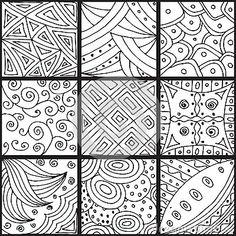 Set of patterns, zentangle
