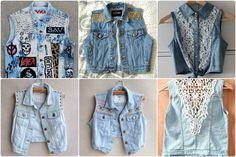 Resultado de imagem para customizando jaqueta jeans