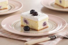 A dense lemon center dotted with blueberries makes for a whole new take on cheesecake. With just 15 minutes of prep, there's no reason your meal shouldn't end memorably.