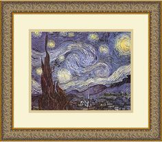 "0-028329>16x14"" Vincent Van Gogh The Starry Night Framed Print"