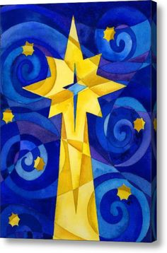 Christmas Star Acrylic Print by Mark Jennings. All acrylic prints are professionally printed, packaged, and shipped within 3 - 4 business days and delivered ready-to-hang on your wall. Star Painting, Painting For Kids, Art For Kids, Christmas Art Projects, Christmas Crafts, Christmas Artwork, Christmas Ideas, Christmas Decorations, Christmas Activities For Toddlers