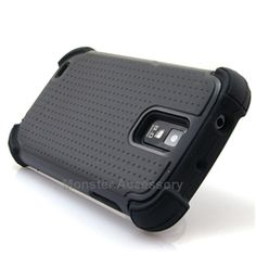 Click Image to Browse: $9.95 Black X Shield Double Layer Hard Case Gel Cover For Samsung Galaxy S2 (Hercules T989)