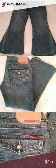 "BCBG Maxazria Jeans  PRICE DROP Like new, size 10, flare-legged jeans. Inseam 26"", 7"" rise BCBGMaxAzria Jeans Flare & Wide Leg"