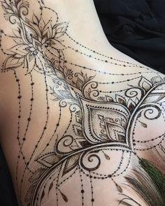 893 Likes, 29 Comments - The Art .- 893 Likes, 29 Kommentare – Die Kunst … – inspiration – 893 Likes, 29 Comments – The Art … – inspiration – - Mehndi Tattoo, Lace Tattoo, Henna Tattoo Designs, Tattoo Girls, Girl Tattoos, Sexy Tattoos For Women, Back Tattoo Women, Unique Tattoos, Beautiful Tattoos