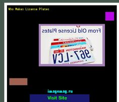 Who makes license plates 151053 - The Best Image Search